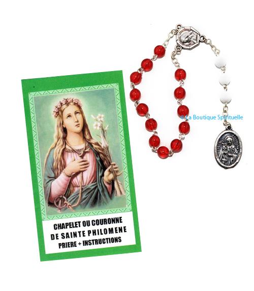 Chapelet sainte philomène