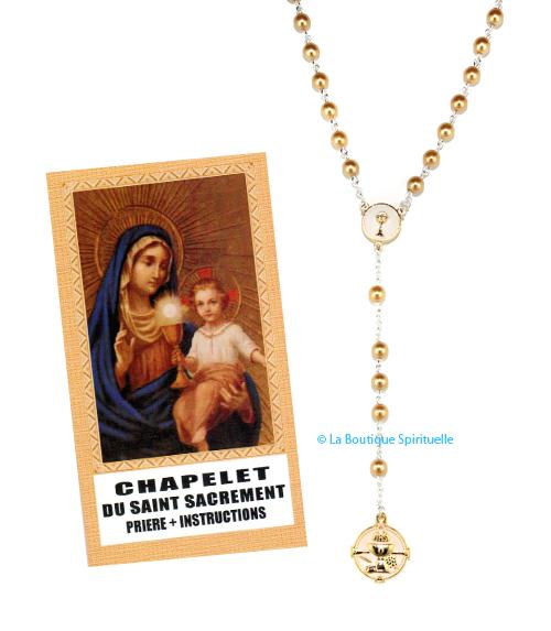 Chapelet saint sacrement