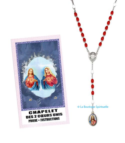 Chapelet Coeurs Unis de Marie et Jésus