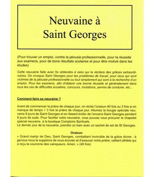 Neuvaine Saint Georges