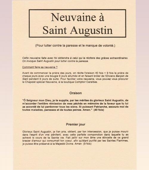 Neuvaine Saint Augustin