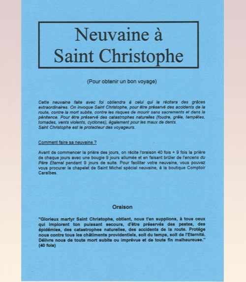 Neuvaine Saint Christophe