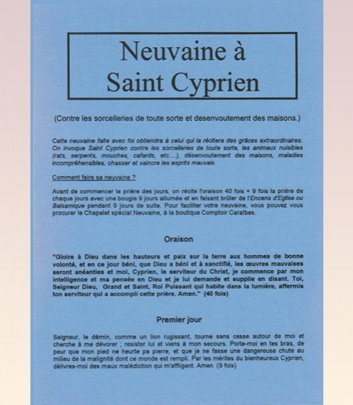 Neuvaine Saint Cyprien