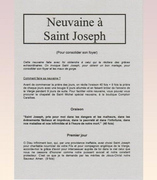 Neuvaine Saint Joseph