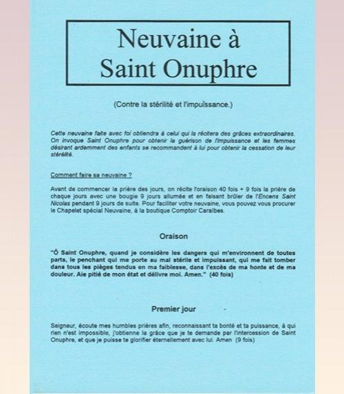 Neuvaine Saint Onuphre