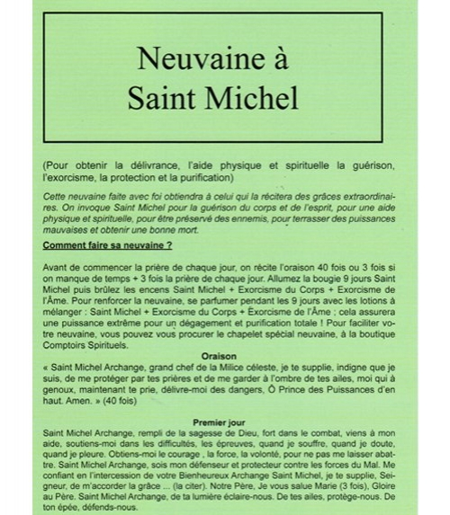 neuvaine a saint michel archange