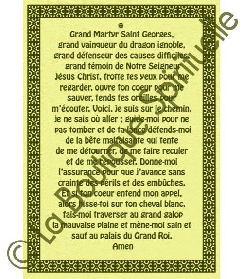 Parchemin saint georges