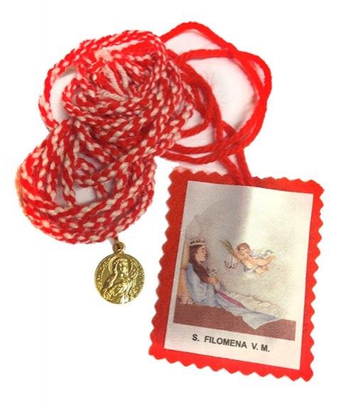 Scapulaire Rouge Sainte Philomène