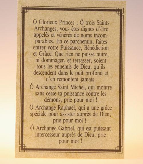Parchemin 3 saints archanges