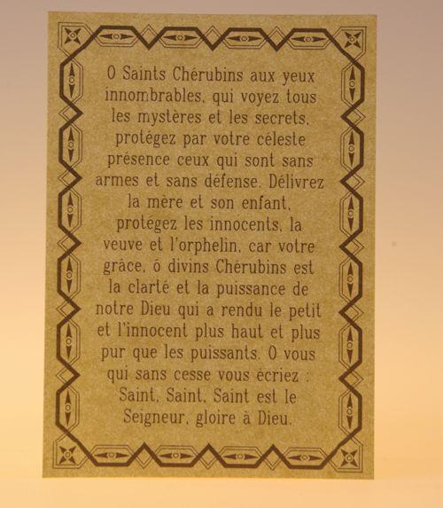 Célèbre Parchemin de prière vertus - Parchemins & Pentacles - Parchemins  PB29